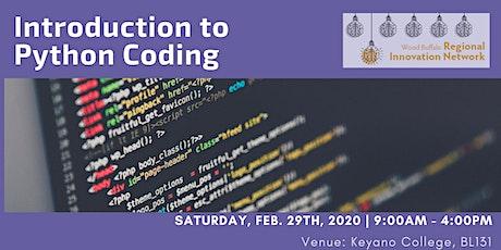 Intro to Python Coding tickets