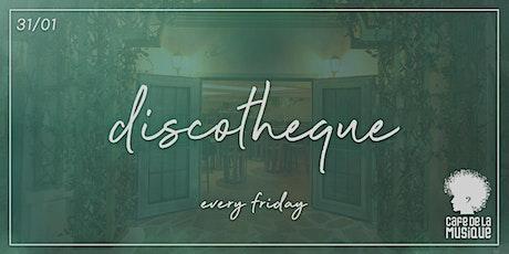 Discotheque @ Cafe de La Musique | 31.01 ingressos