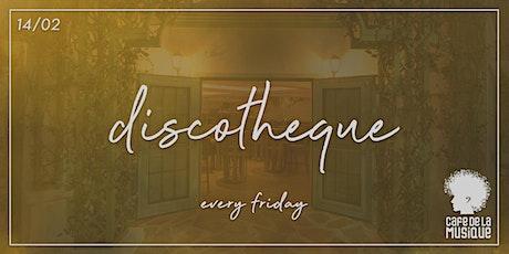 Discotheque @ Cafe de La Musique | 14.02 ingressos