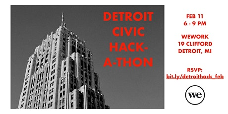 Detroit Civic Hackathon: February Edition tickets