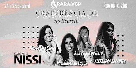 Conferência de Mulheres no Secreto ingressos