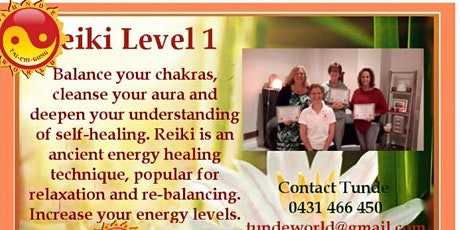 Reiki level 1 Training and Attunement tickets