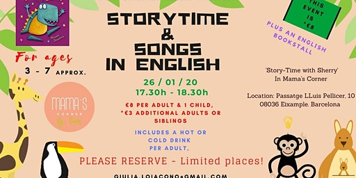 Storytelling & Songs in English with Sherry