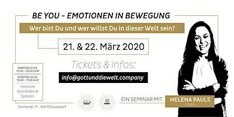 BE YOU - Emotionen in Bewegung  2-Tages Workshop Tickets