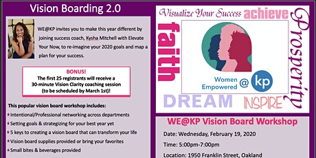 WE@KP Vision Board Workshop tickets