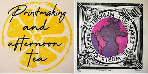Printmaking workshop followed by afternoon tea