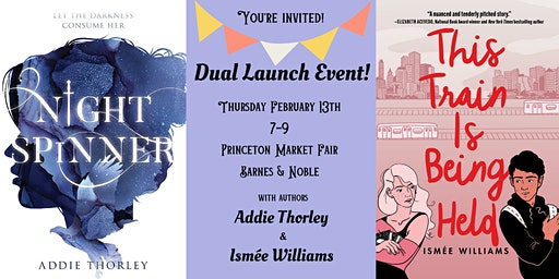 Book Launch Party for NIGHT SPINNER and THIS TRAIN IS BEING HELD!