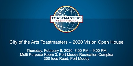 City of the Arts Toastmasters - 2020 Vision Open House tickets