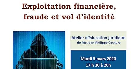 """Atelier CANAF/AJEFA """"Exploitation financière,  fraude et vol d'identité"""" billets"""