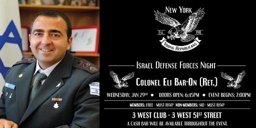Israel Defense Forces Night with Colonel Eli Bar-On