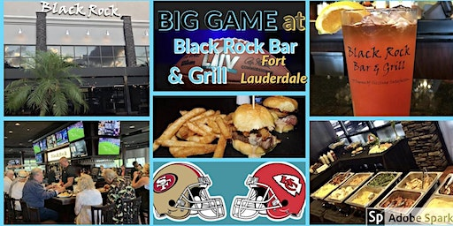 Big Game Buffet at Black Rock Bar & Grill, Food & Drinks - All Inclusive!!!