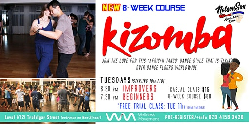 Dance Kizomba Beginners / 8-week Course [Term 1]