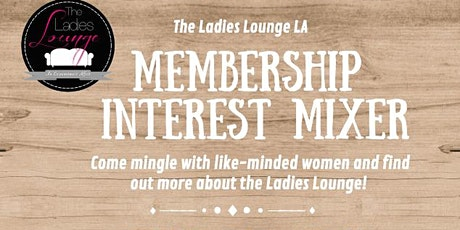 Membership Interest Mixer  tickets