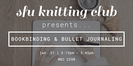 Bookbinding & Bullet Journaling Workshop 2.0 (Rescheduled) tickets