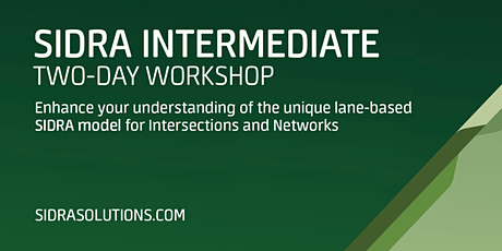 SIDRA INTERMEDIATE Two-Day Workshop // Sydney [TE071] tickets