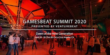 GamesBeat Summit 2020  tickets
