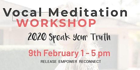 The Vocal Meditation Workshop tickets