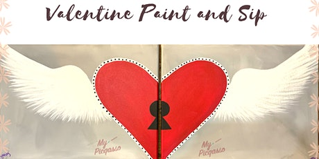 Houston's Valentine Key to My Heart Paint and Sip Experience tickets