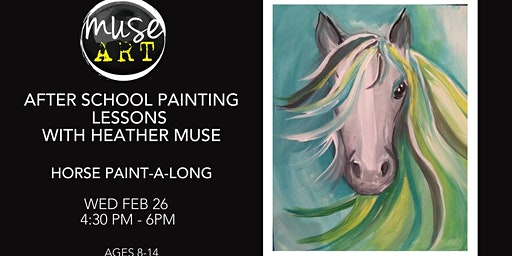 After School Painting Lessons with Heather Muse - Horse