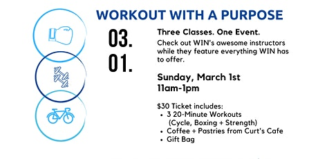 Workout with a Purpose: Curt's Cafe x WIN Athletic Club tickets