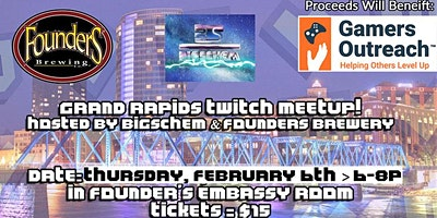 Grand Rapids Twitch Meetup @ Founders Brewery V3