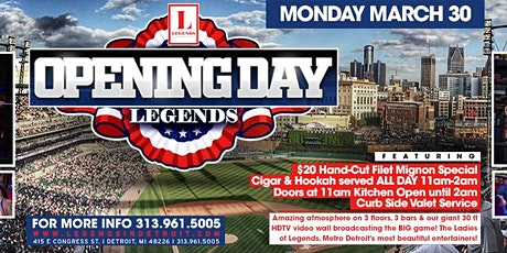 Opening Day Bash at Michigan's premier venue! tickets