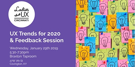 UX Trends for 2020 & Feedback Session tickets