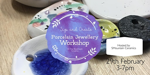 Sip and Create Ceramics - make your own bespoke porcelain jewellery pieces