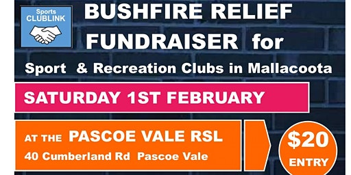 Sports CLUBLINK - Bush fire relief for Sports Clubs in Mallacoota