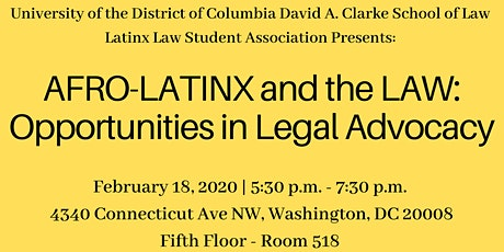 Afro-Latinx and the Law: Opportunities in Legal Advocacy tickets