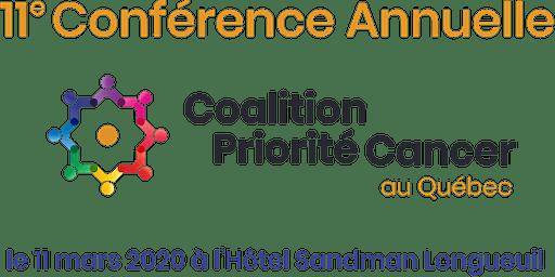 11e Conférence Annuelle de la Coalition Priorité Cancer au Québec