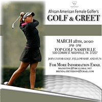 "African American Female Golfer's ""Golf & Greet"""