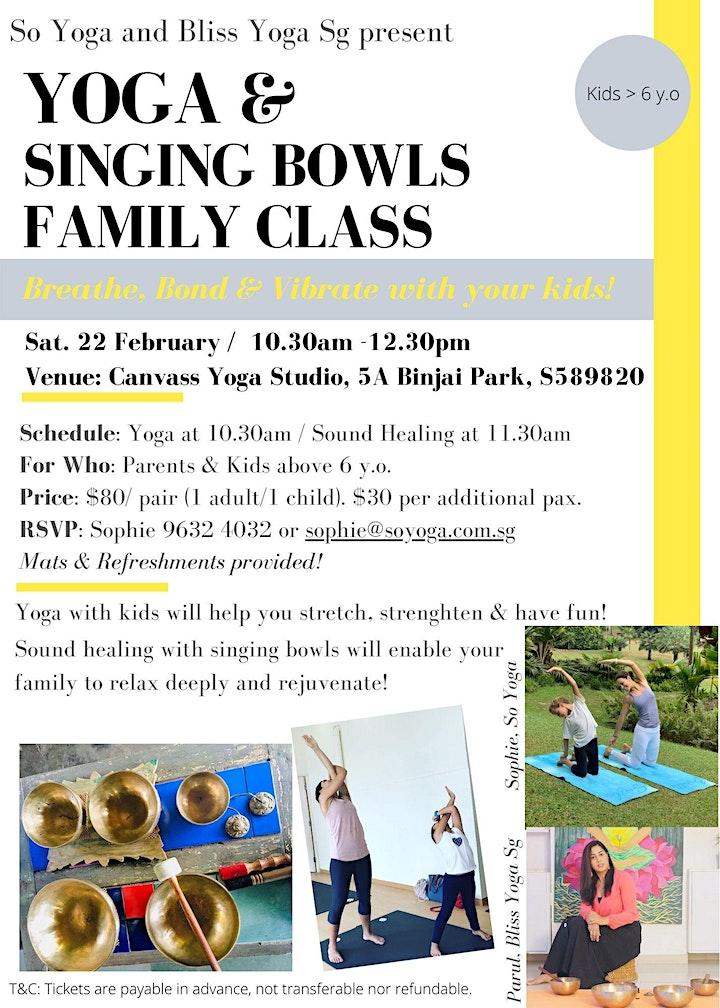 Yoga & Singing Bowls Family Class image