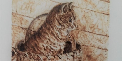 Pyrography on Watercolor Paper Part 1, April 3, 2020 and Part 2, April 17, 2020