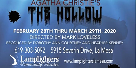 The Hollow by Agatha Christie at Lamplighters tickets