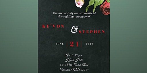 Ke'von and Stephen's Wedding & Reception