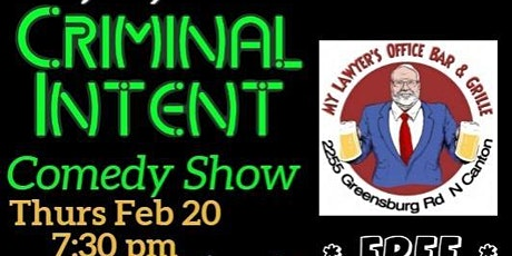 Criminal Intent Comedy Show tickets