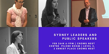 Sydney Leaders and Public Speakers Practice Evening and Workshop- 26th February 2020 tickets