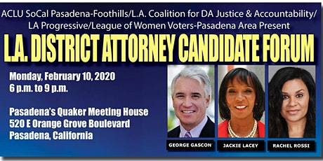 Los Angeles County District Attorney Candidate Forum tickets