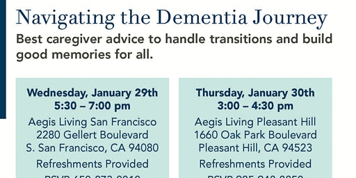 Navigating the Dementia journey- Pleasant Hill