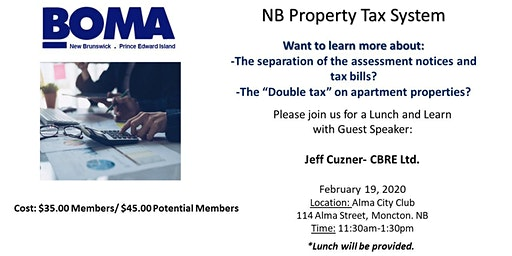 Don't forget to Register! Lunch & Learn- NB Property Tax System