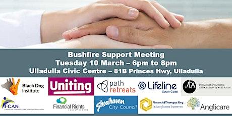 Bushfire Support Meeting - Ulladulla tickets