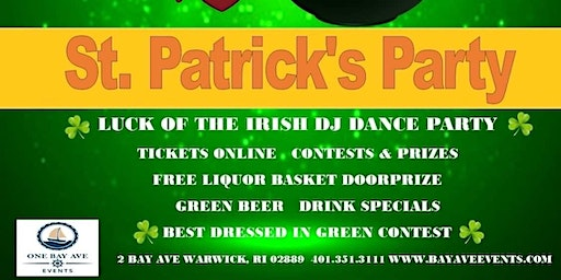 St Patrick's Dance Party - Irish Inspired Dinner Buffet - Pot O'GOLD Prizes