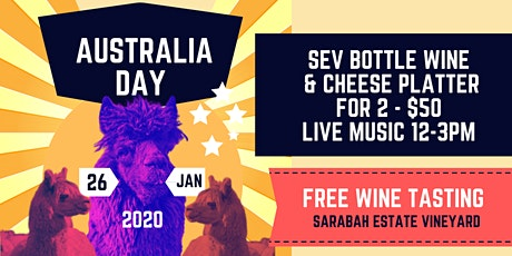 Aus Day at Sarabah Estate Vineyard tickets