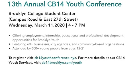 13th Annual CB14 Youth Conference tickets