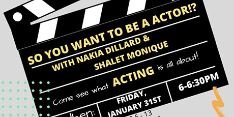 So You Want To Be An Actor!? tickets