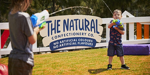 The Natural Confectionary Co. Family Play Splash Park at Australian Open