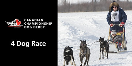 Canadian Championship Dog Derby 4-dog race tickets