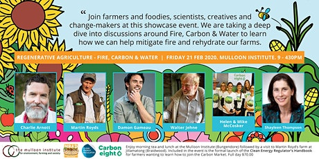 Regenerative Agriculture - A Deep Dive into Fire, Carbon and Water tickets