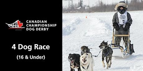 Canadian Championship Dog Derby 4-dog race (16 & under) tickets